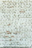 Old weathered white brick wall Royalty Free Stock Image