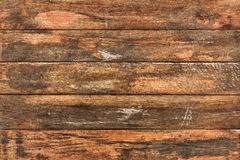 Old Weathered Rough Knotted Pinewood Patio Garden Table Planks Peeled Off Grunge Surface Texture - Detail Royalty Free Stock Photography