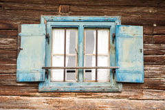 Old weathered widow Royalty Free Stock Photo