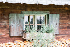 Old weathered widow Stock Photography