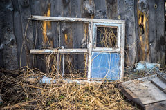 Old weathered window frame Royalty Free Stock Photos