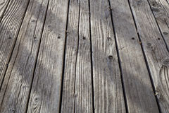 Old weathered wood deck Royalty Free Stock Photos