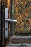 Old weathered wood door Stock Photo