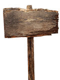 Old weathered wood sign Royalty Free Stock Image