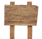 Old Weathered Wood Sign Stock Photography