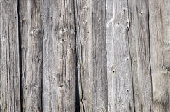 Old weathered wooden background. Weathered grey wooden background of old shed Royalty Free Stock Images