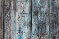 Old weathered wooden board with rusty nails Stock Photography