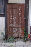 Old weathered wooden door Stock Photography