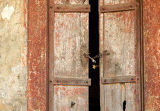 Old weathered wooden door Stock Images