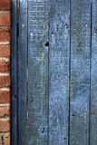 Old weathered wooden fence stained blue Royalty Free Stock Photography