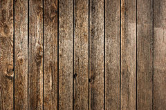 Old weathered wooden fence or wall cladding Stock Photo