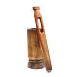 Old weathered wooden grinder Royalty Free Stock Images