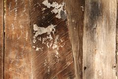 Old weathered wooden panel Stock Image