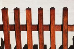 Wooden picket fence Stock Image