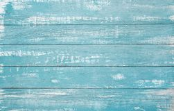 Free Old Weathered Wooden Plank Painted In Turquoise Or Blue Sea Color Stock Photography - 168486342