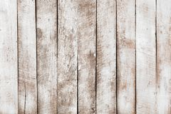 Old weathered wooden plank painted in white color. royalty free stock photography