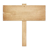 Old weathered wooden roud sign Royalty Free Stock Photography