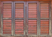 Old and weathered wooden window Royalty Free Stock Images