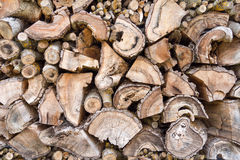 Old weathered woodpile Royalty Free Stock Image