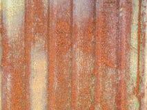 Old weathered zinc as rust. Stock Photos