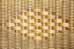 Old weave wicker texture background Stock Image