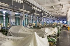 Old weaving factory workshop Royalty Free Stock Photography