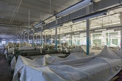 Old weaving factory workshop Royalty Free Stock Image