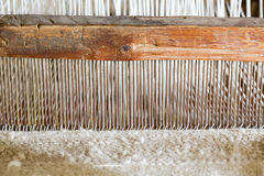 Old weaving loom in spanish mission Royalty Free Stock Photos
