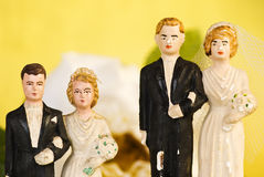 Old wedding couples  1 Royalty Free Stock Photos
