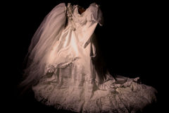 Old Wedding Dress Royalty Free Stock Photo