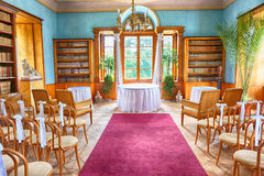 Old wedding interior Royalty Free Stock Images