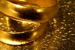 Old wedding rings Stock Images