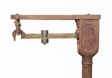 Old Weight Scale isolated Royalty Free Stock Photography