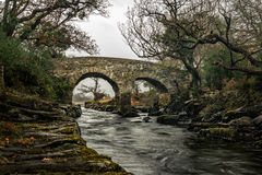 Old Weir Bridge. Meeting Of The Waters,Killarney National Park,Ireland,EU Royalty Free Stock Photography