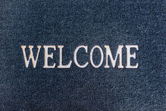 Old welcome doormat Royalty Free Stock Image