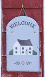 Old welcome sign Royalty Free Stock Photos
