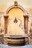 Old well. At a historic villa in siena/italy Stock Images