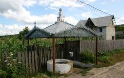 Old well moldova. Moldavian external well,  in countryside Moldova Stock Photography