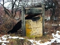 Old Well. Old abandoned and broken well Royalty Free Stock Photography