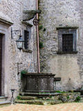 Old well within the Bracciano Castle , also known as Castello Orsini - Odescalchi . ROME Royalty Free Stock Image