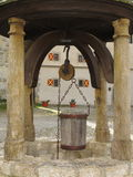 Old well in castle Harburg Stock Photos
