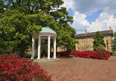 Old Well at Chapel Hill, NC. The Old Well at UNC Chapel Hill in the springtime stock photo