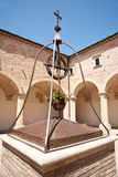 Old well in courtyard. Royalty Free Stock Photo