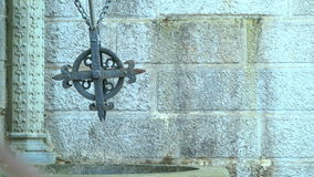 Old well with a cross in the Livadia Palace. In Yalta, Crimea stock video footage