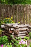 Old well in garden Royalty Free Stock Image
