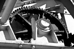Old well greased Gear wheel Royalty Free Stock Photos