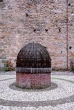 Old well inside Marostica's medieval castle in the province of Vicenza in the Veneto (Italy) Royalty Free Stock Photography