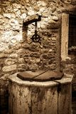 The old well in the medieval town of Besalu Royalty Free Stock Photos
