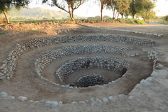 Old Well from the Nazca Culture Stock Image