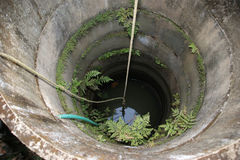 Old well in a poor village peasants, Kerala, South India Royalty Free Stock Image